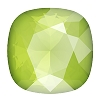 Swarovski 4470 Cushion Cut Square Fancy Stone 10mm Crystal Lime